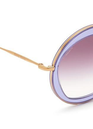 MIU MIU-Acetate inlay wire round frame sunglasses