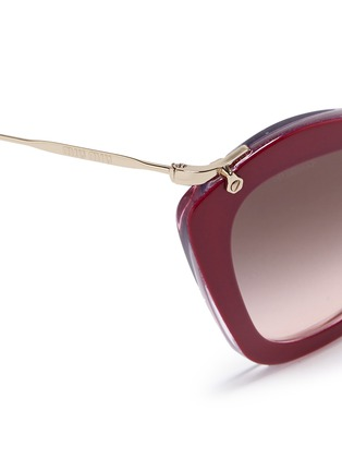 Detail View - Click To Enlarge - miu miu - 'Noir' glitter cat eye acetate sunglasses