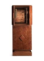 Elm Briar wood basic armoire with safe