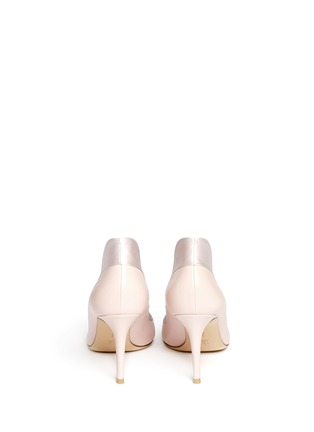Back View - Click To Enlarge - Gianvito Rossi - Satin trim leather pumps