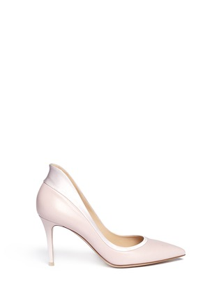 Main View - Click To Enlarge - Gianvito Rossi - Satin trim leather pumps