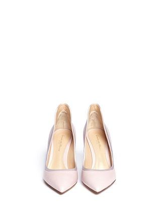 Figure View - Click To Enlarge - Gianvito Rossi - Satin trim leather pumps