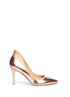 GIANVITO ROSSI Satin-trim metallic pumps