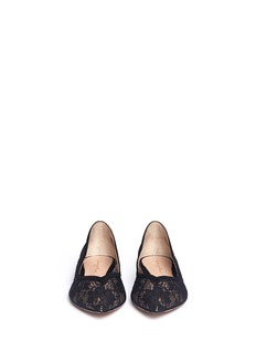 GIANVITO ROSSISuede trim lace flats