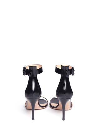 Back View - Click To Enlarge - Gianvito Rossi - Ankle strap leather sandals