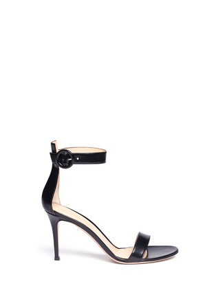 Main View - Click To Enlarge - Gianvito Rossi - Ankle strap leather sandals