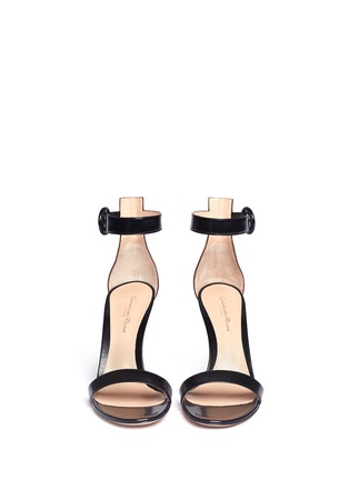 Figure View - Click To Enlarge - Gianvito Rossi - Ankle strap leather sandals