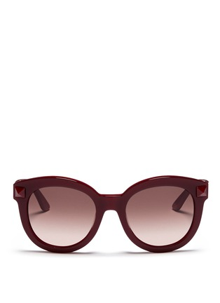 Main View - Click To Enlarge - Valentino - Rockstud round-frame plastic sunglasses