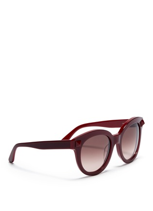 Figure View - Click To Enlarge - Valentino - Rockstud round-frame plastic sunglasses