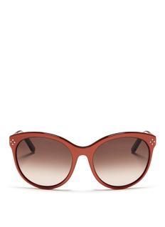 CHLOÉRound cat eye metal temple sunglasses