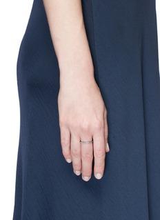 REPOSSI'Antifer' diamond 18k black gold teardrop ring