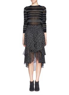 JASON WUPointelle knit stripe silk sweater