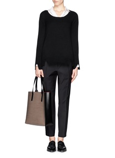 THE ROW 'Camille' notched cashmere sweater