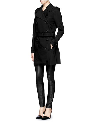 Front View - Click To Enlarge - Neil Barrett - Double faced weave trench coat