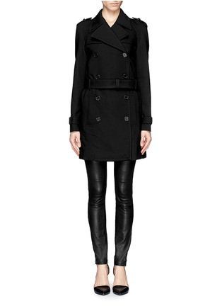 Main View - Click To Enlarge - Neil Barrett - Double faced weave trench coat