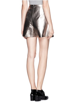 Back View - Click To Enlarge - MSGM - Metallic bloomer shorts
