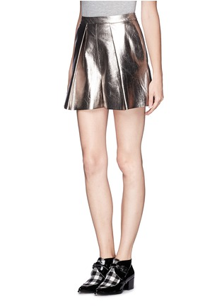Front View - Click To Enlarge - MSGM - Metallic bloomer shorts