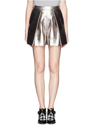 Main View - Click To Enlarge - MSGM - Metallic bloomer shorts