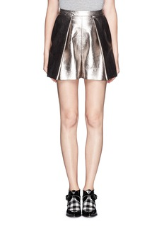 MSGMMetallic bloomer shorts