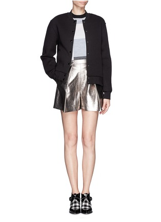 Figure View - Click To Enlarge - MSGM - Metallic bloomer shorts