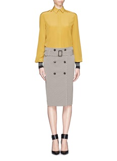 JASON WUJacquard button front pencil skirt