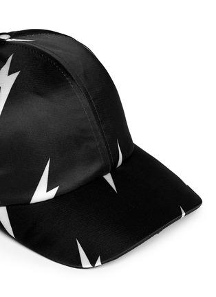Detail View - Click To Enlarge - Neil Barrett - Thunderbolt satin baseball cap