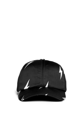Main View - Click To Enlarge - Neil Barrett - Thunderbolt satin baseball cap