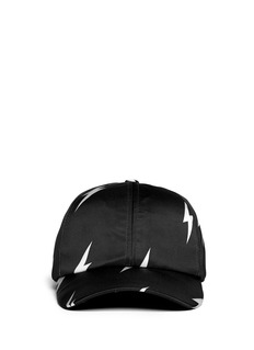NEIL BARRETT Lightning bolt satin baseball cap