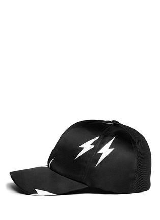 Figure View - Click To Enlarge - Neil Barrett - Thunderbolt satin baseball cap