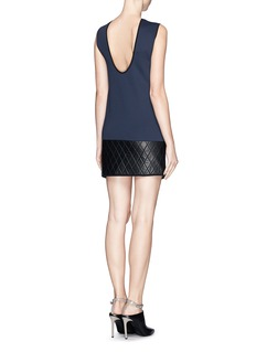 NEIL BARRETT Quilted leather hem scuba jersey dress