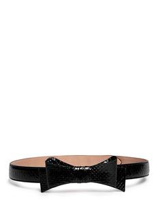 AZZEDINE ALAÏAPython leather bow belt