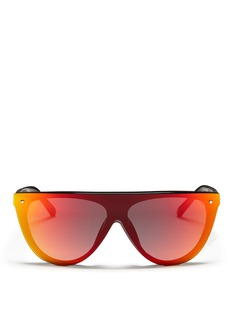 3.1 PHILLIP LIM x Linda Farrow mirror-lens straight browline sunglasses