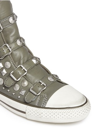 Detail View - Click To Enlarge - Ash - 'Victim' strass and stud leather sneakers