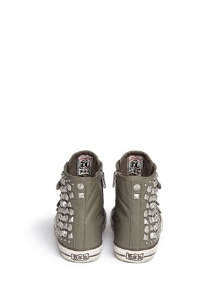 Back View - Click To Enlarge - Ash - 'Victim' strass and stud leather sneakers