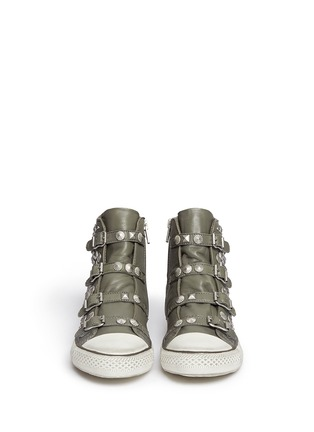 Figure View - Click To Enlarge - Ash - 'Victim' strass and stud leather sneakers