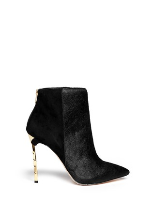 Main View - Click To Enlarge - Sam Edelman - 'Sandy' calf hair suede ankle boots