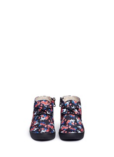 AKID 'Knight' floral print canvas kids sneakers