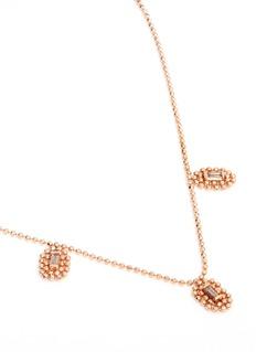 Xiao Wang 'Elements' diamond 14k rose gold ball chain necklace