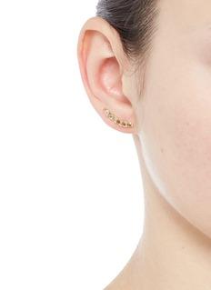 Xiao Wang'Stardust' diamond 14k yellow gold single climber earring