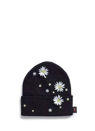 Main View - Click To Enlarge - Piers Atkinson - Swarovski crystal embellished daisy beanie