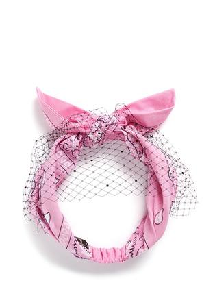 Main View - Click To Enlarge - Piers Atkinson - Swarovski crystal veil bandana headband