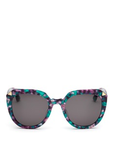 Stephane + Christian 'Moka' oversized D-frame shell effect acetate sunglasses