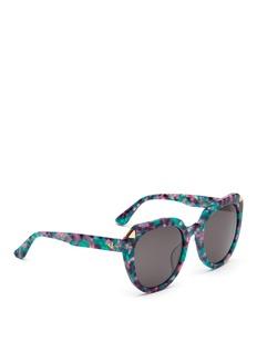 Stephane + Christian'Moka' oversized D-frame shell effect acetate sunglasses
