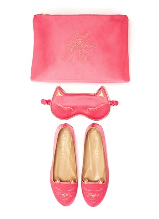 Main View - Click To Enlarge - Charlotte Olympia - Cat Nap satin travel set