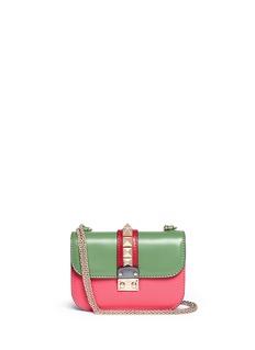 VALENTINO'Rockstud' small Italian Pop leather chain bag