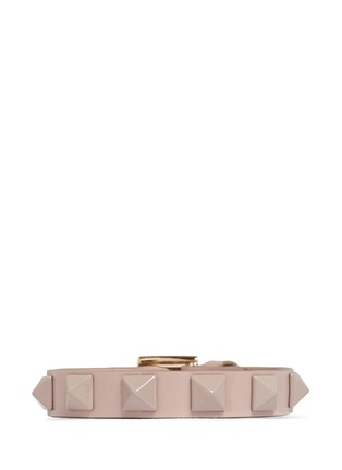 Main View - Click To Enlarge - Valentino - 'Rockstud' skinny patent leather bracelet