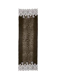 VALENTINOLace panel jaguar print scarf