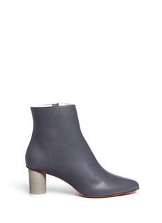 GRAY MATTERS SHOES'Monika' concrete heel leather boots