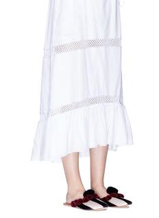 FIGUE SHOES'Frida' pompom stripe slide sandals