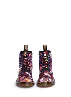 Dr. Martens'Delaney' floral print canvas kids boots